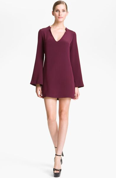 Elizabeth And James Brigitte Minidress in Red (merlot) - Lyst