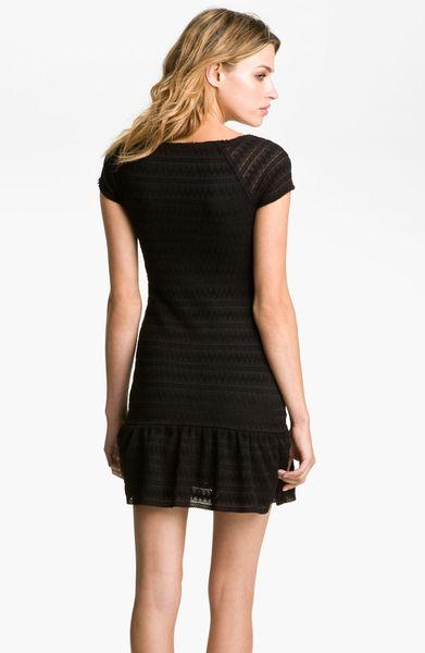 Free People Ruffle Drop Waist Dress In Black Lyst