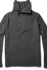 Givenchy Zipped Wool and Cashmereblend Sweater - Lyst