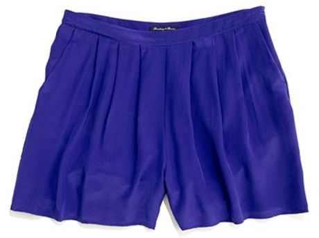 Madewell Silk Tap Shorts in Blue (baroque violet)