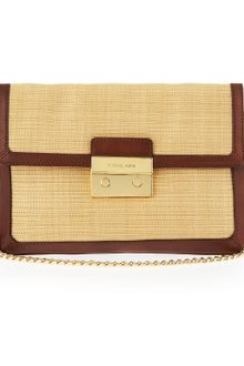 Michael by Michael Kors Sloan Straw Clutch  - Lyst