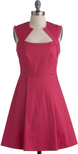ModCloth Pink Happy Thoughts Dress - Lyst