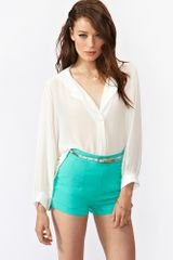 Nasty Gal Lagoon Shorts in Green (lagoon) - Lyst