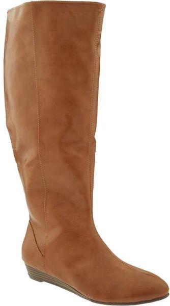 Old Navy Plus Wide Calf Boots in Brown (cognac brown