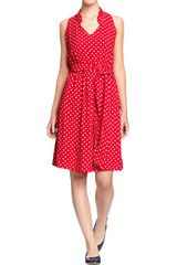 Old Navy Ruffle Trim Tie Belt Dresses - Lyst