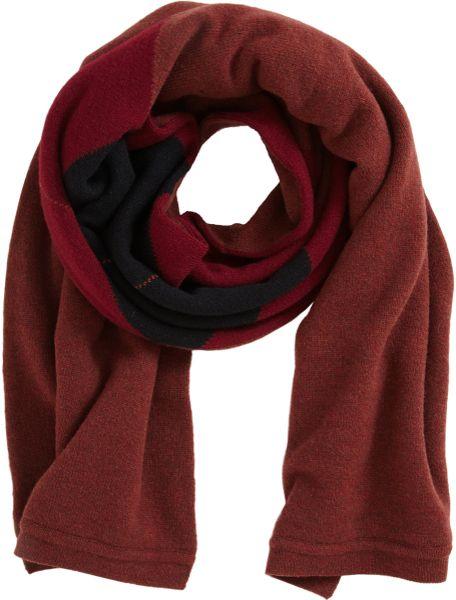 pringle of scotland argyle scarf in for burgundy