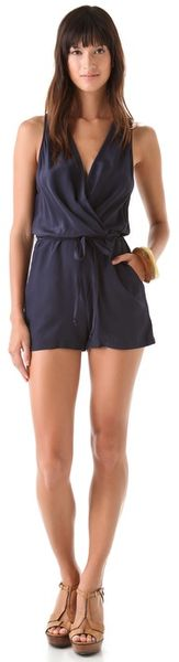 Rory Beca Jordy Wrap Romper in Blue - Lyst