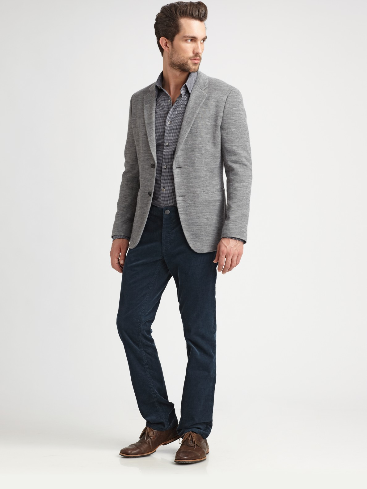 Lyst - Theory Knit Blazer in Gray for Men