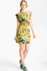 Tracy Reese Floral Print Crêpe De Chine Dress - Lyst