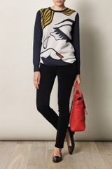 3.1 Phillip Lim The Breakup Print Sweater in Blue (navy) - Lyst
