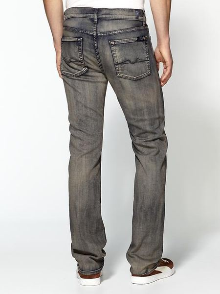 7 For All Mankind Slimmy Slim Straight Jeans in Gray for Men (shadow cliff) - Lyst