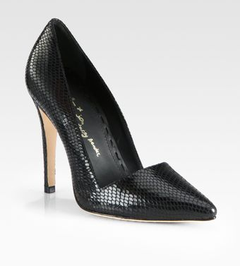 Alice + Olivia Dina Snakeprint Leather Pumps - Lyst
