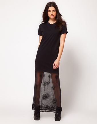 ASOS Collection  Embellished Hem Dress - Lyst
