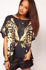 ASOS Collection Asos T-shirt with Twin Leopards - Lyst