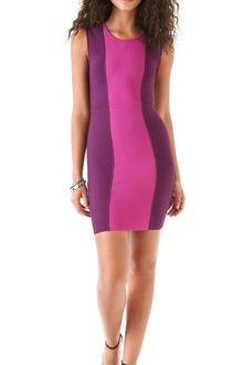 BCBGMAXAZRIA Aliza Color Block Dress - Lyst