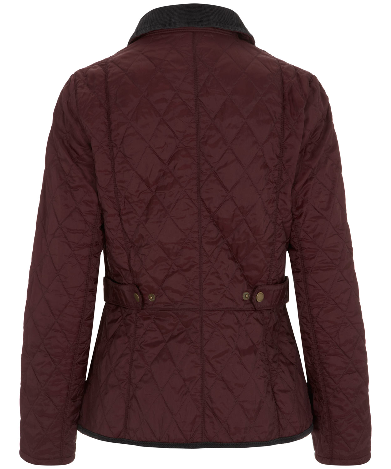 Lyst barbour vintage cord collar quilted jacket in red