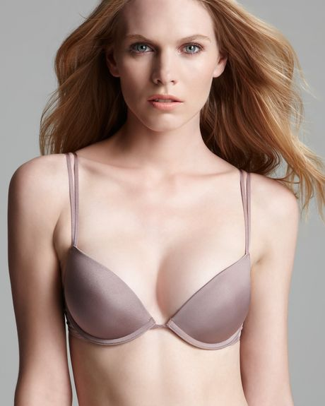 Calvin Klein Underwear Pushup Bra Instinct Tailored in Brown (catwalk true red) - Lyst
