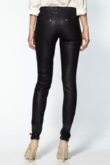 Free People Vegan Leather Seamed Skinny Pant in Black (black ) - Lyst