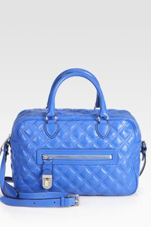 Marc Jacobs Manhattan Quilted Satchel - Lyst