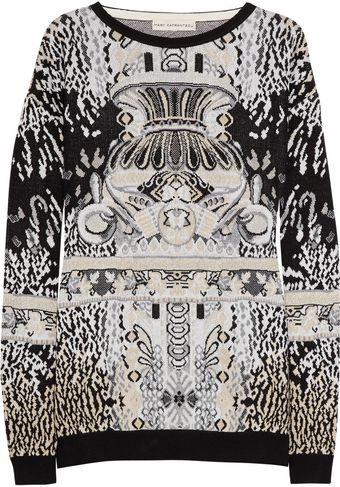 Mary Katrantzou Patterned Knitted Sweater - Lyst