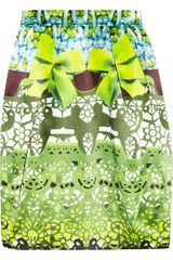 Mary Katrantzou Printed Silk Satin Tulip Skirt - Lyst