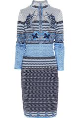 Mary Katrantzou Wool Blend Dress - Lyst