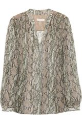 Matthew Williamson Printed Silk Chiffon Blouse - Lyst