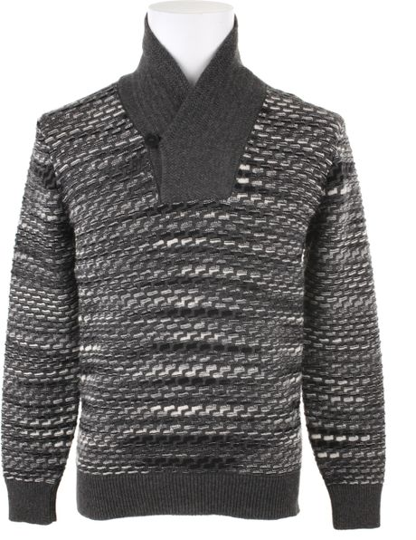 Missoni Cashmere Sweater with A Graphic Pattern in Gray for Men - Lyst