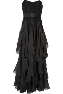 Notte By Marchesa Gathered Silk  Chiffon And Organza Gown - Lyst
