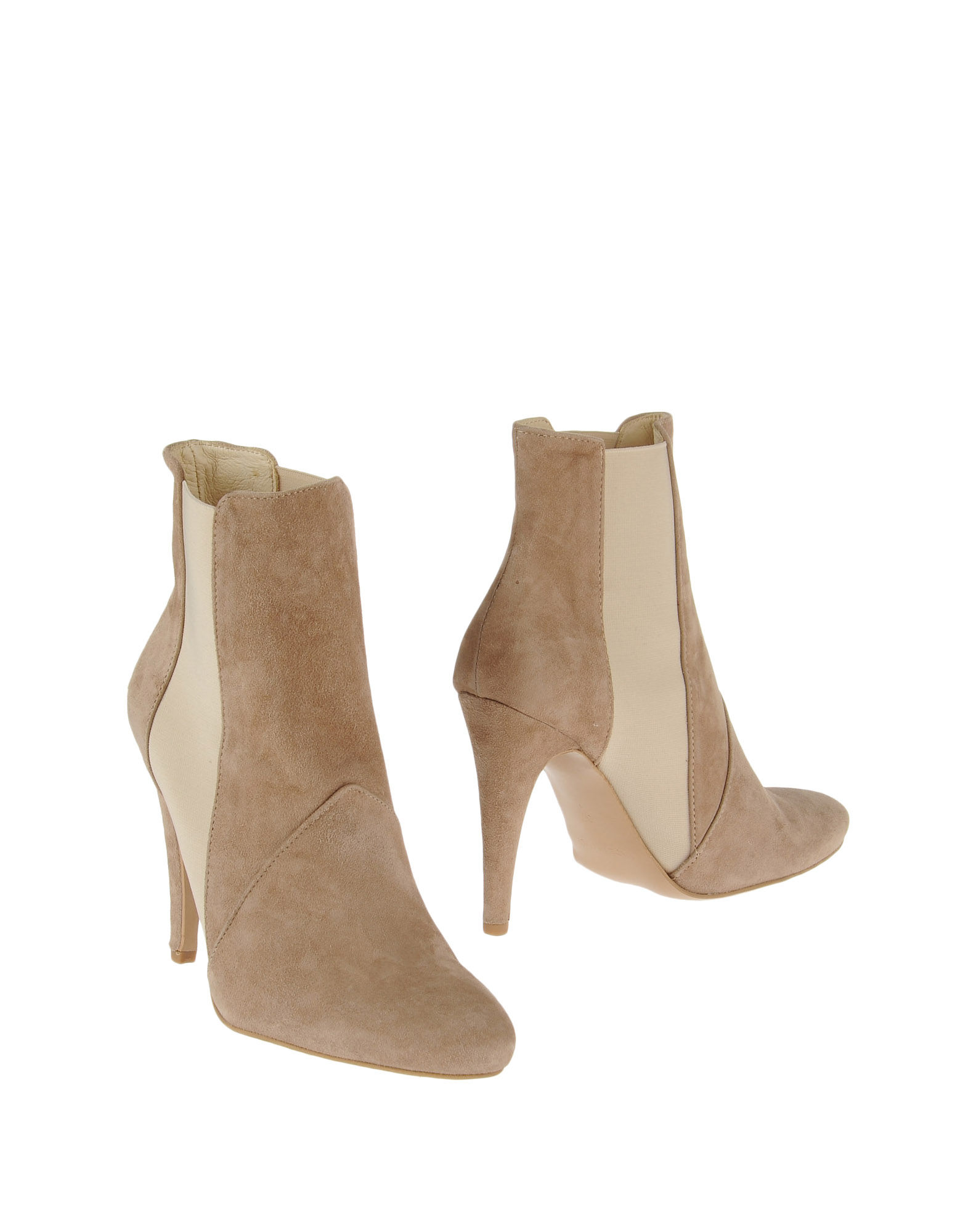 stefanel ankle boots in beige save 69 lyst. Black Bedroom Furniture Sets. Home Design Ideas