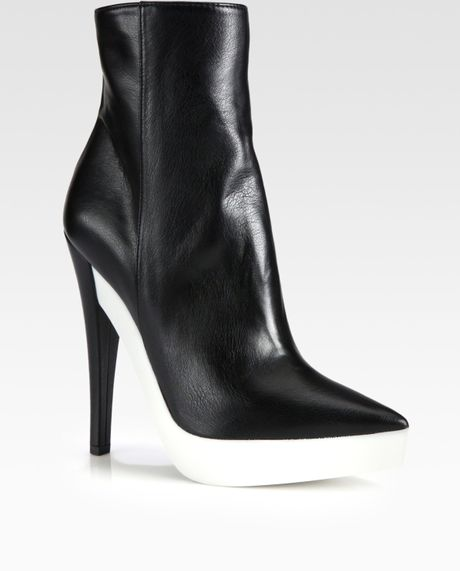 stella mccartney faux leather platform ankle boots in