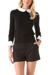 Alice + Olivia Porla Collared Sweater - Lyst