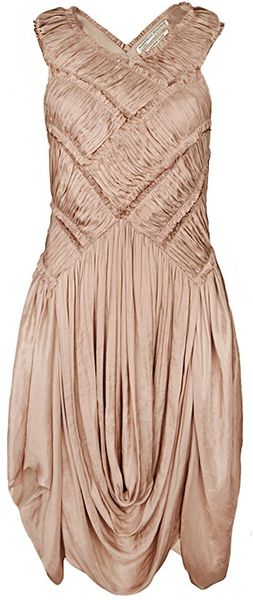Allsaints Diaghilevi Dress in Pink (dusk) - Lyst