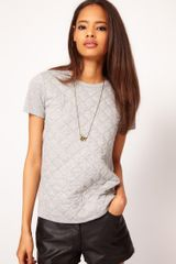 ASOS Collection Asos T-shirt With Quilted Section - Lyst