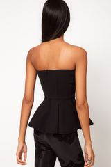 Asos Collection Asos Bandeau with Extreme Peplum in White - Lyst