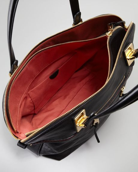 Chloe Angie Large Shoulder Bag Black 76