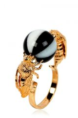 Delfina Delettrez Double Bee Ring - Lyst