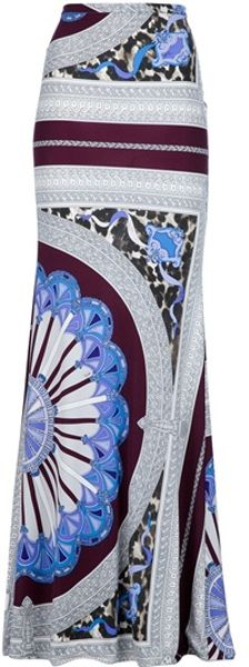 Emilio Pucci Maxi Skirt in Blue - Lyst