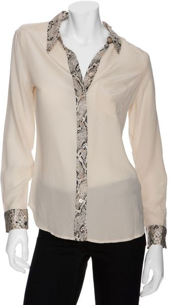 Equipment Brett Python Contrast Blouse - Lyst