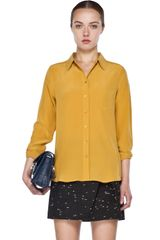 Equipment Brett Blouse in Bright White - Lyst