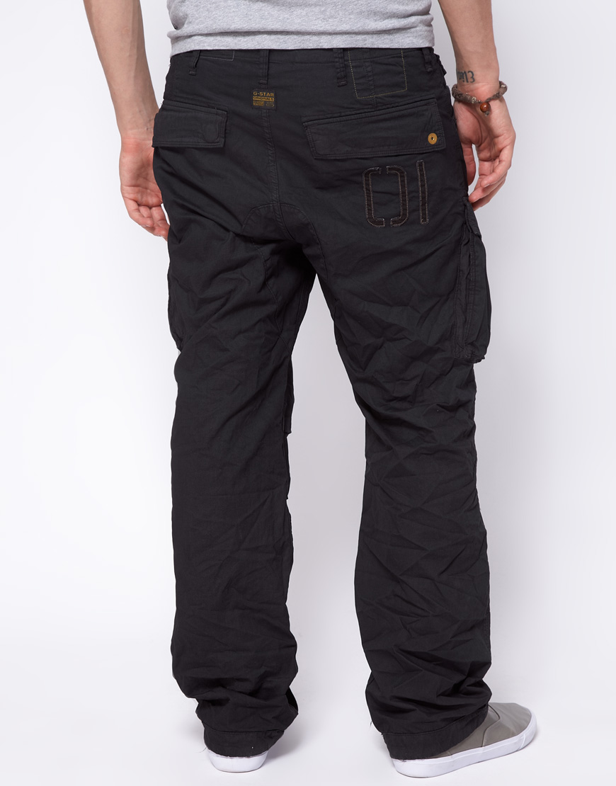 Lyst G Star Raw Cm Rovic Loose Cargo Pant In Black For Men