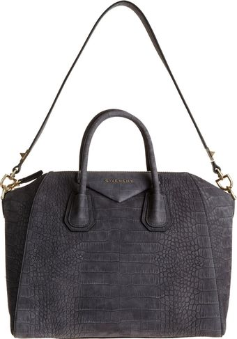 Givenchy Crocstamped Medium Antigona Duffel - Lyst