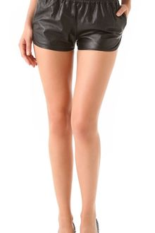 Haute Hippie Leather Boxing Shorts - Lyst