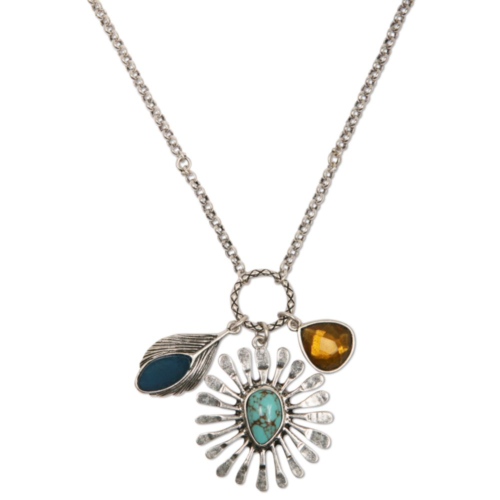 Lyst Lucky Brand Silver Tone Semiprecious Turquoise