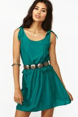 Nasty Gal Tied Peplum Dress - Lyst