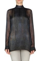Roberto Cavalli Long Sleeve Shirt in Blue - Lyst