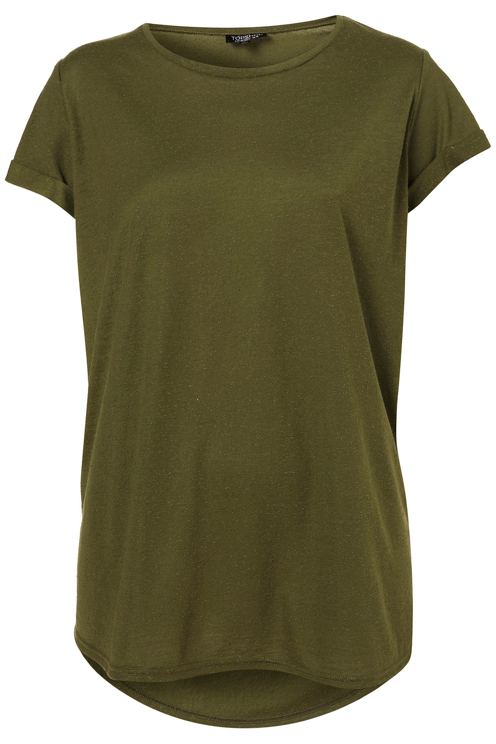 Topshop Basic Neppy Tee In Green Lyst