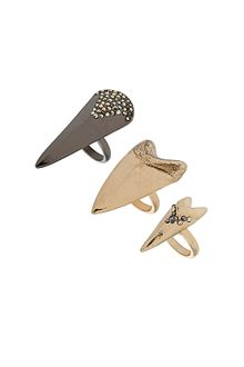 Topshop Shark Tooth Ring Set - Lyst