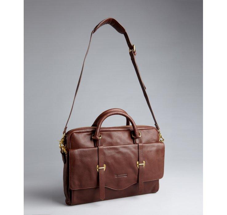 prada leather bags sale - Prada briefcase cocoa brown