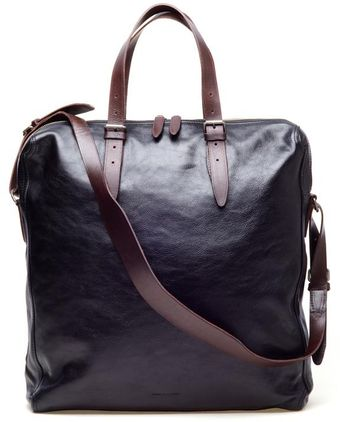 Dries Van Noten Fine Leather Shopper Bag - Lyst